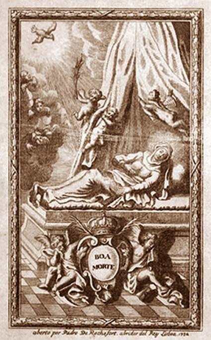 """Médaille en forme de croix - """"ND de la Bonne Mort"""" - Origine Portugal probablement - datée 1732 DdJtMs"""