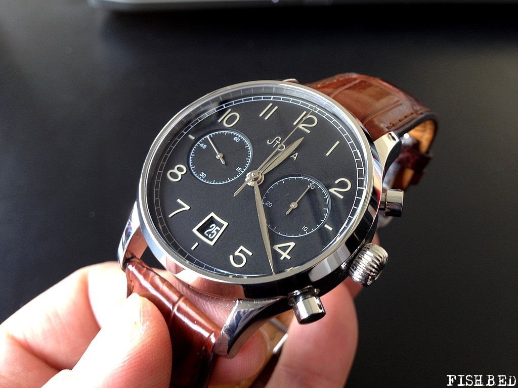 stowa - Stowa, Archimede, Longines... Un chrono classic pour un petit poignet ! Stowablackchrono193806