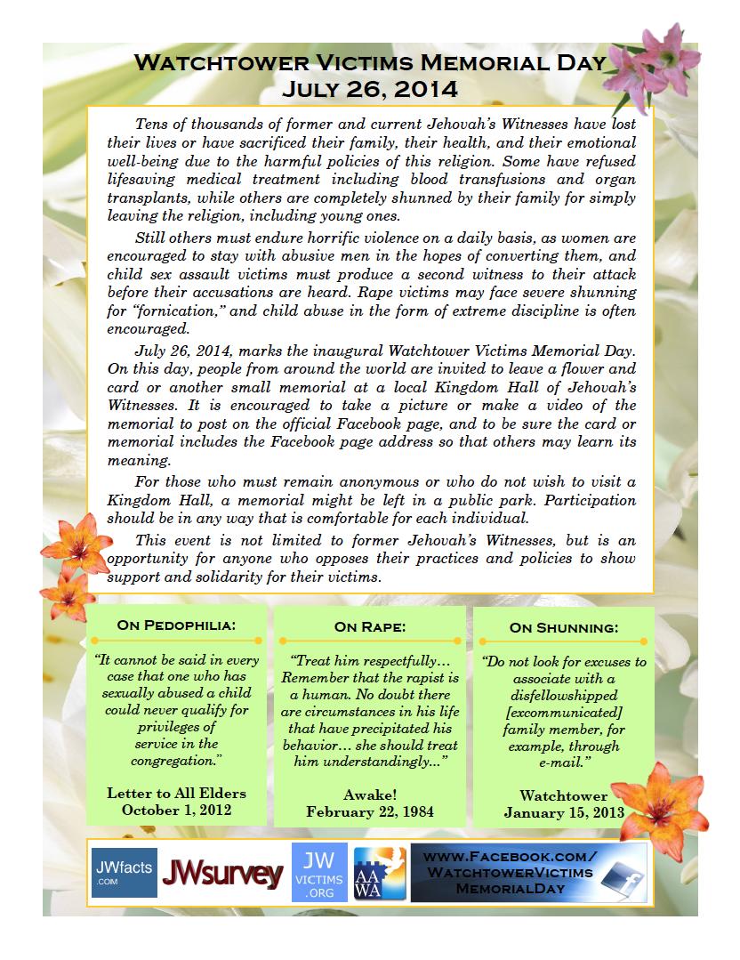 Dia de Memória das Vítimas da Watchtower Etn4