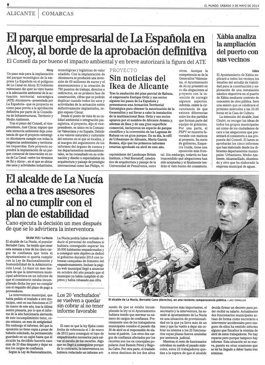 COMO SALIO EN EL MUNDO 3 DE MAYO 2014 47c0