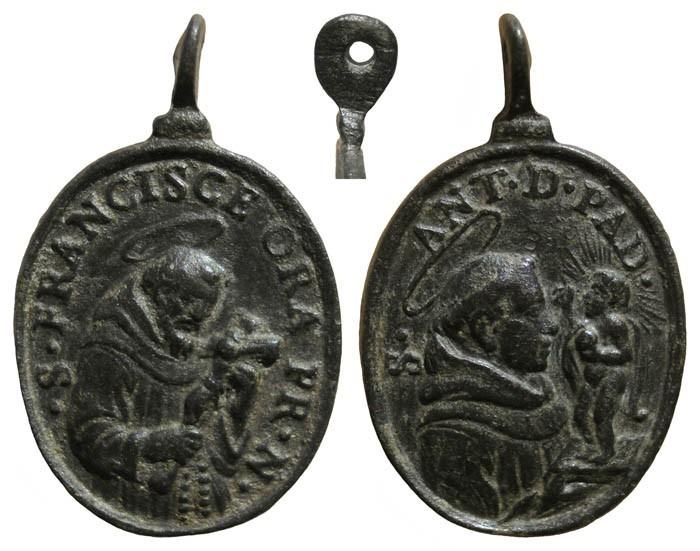 S. Francisco de Asís / S. Antonio de Padua - MR(023) (SXVII-O101) WOOBiH