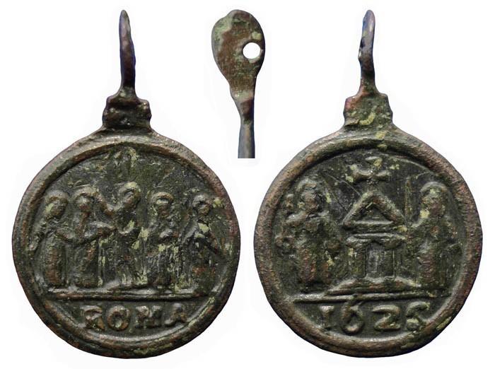 Puerta Santa Jubileo de 1625 / 5 santos - MR(053)  (R.M. SXVII-C27) XDlo2a
