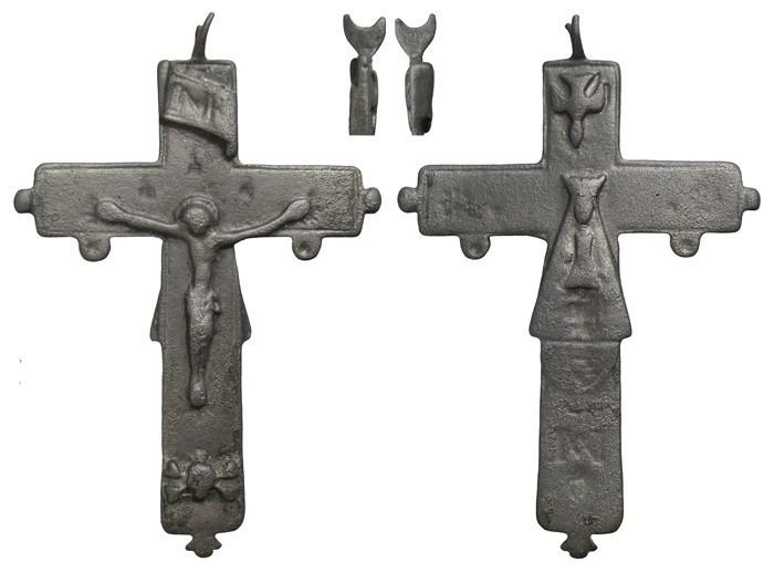 Crucifijo bifaz con pezuelos Ntra. Sra. de  Liesse S-XVII - CC-062 - [Pec030/S-XVII]* FoWhJ1