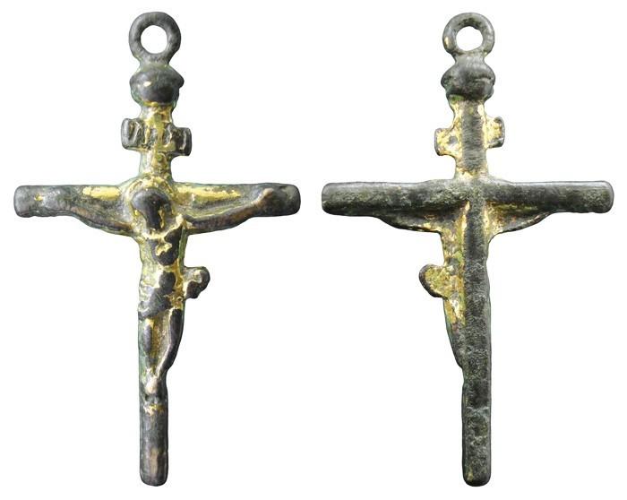 Crucifijo cilíndrico sobredorado S-XVII – CC-043 - [Pec019/S-XVII]* 70Jf1M