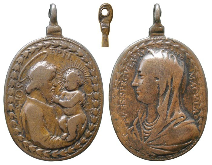 Médaille St-Joseph - Vierge Marie (XVIIème) XtchFb