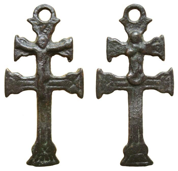 Cruz de Caravaca con figuras Cristo - Inmaculada Concepción, S-XVIII,  CC-015 - [Pec 031/S-XVIII]* Zp9cJa