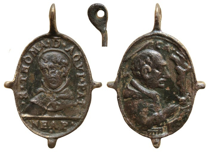 Santo Tomás de Aquino /Virgen del Rosario, s.  XVII (R.M. Pe Tomas de Aquino 4) 5LYLrb