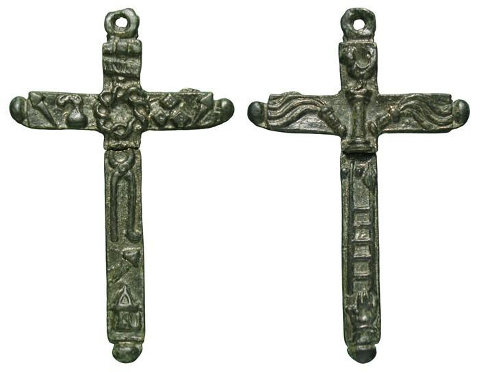 Cruz bifaz con Arma Christi.  S-XVII - CC-068 - [Pec033/S-XVII]* Bp3EwZ