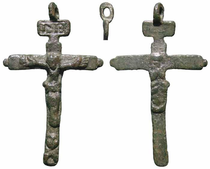 Crucifijo bifaz Inmaculada  con dos pezuelos, S.XVII – CC-045 - [Pec018/S-XVII]* Q220SR