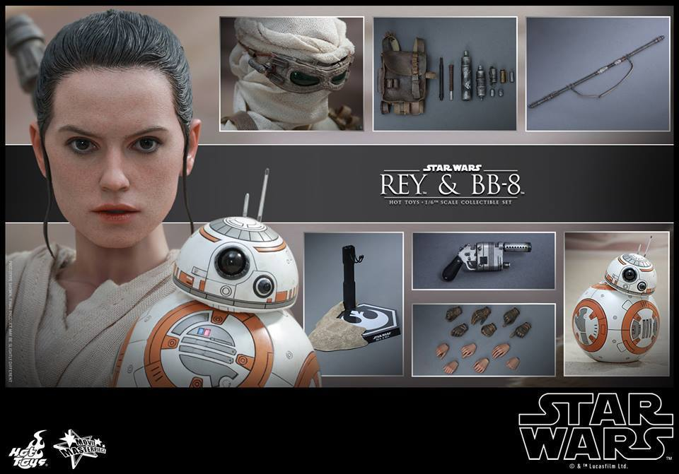 HOT TOYS-Star Wars TFA-Rey & BB8 Set XNIlUT