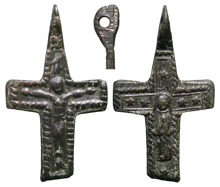Crucifijo bifaz  Inmacula, S-XVII-XVIII- MR(020) CC-003 [Pec012/S-XVII]* 853ZEb