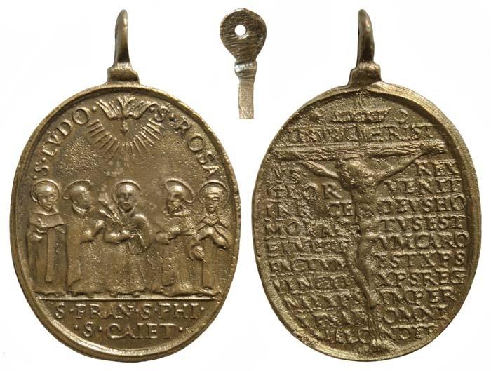 Cinco santos canonizados en 1671 / Crucificado y oracion - MR(057)(R.M. SXVII-O267) EAvqtu