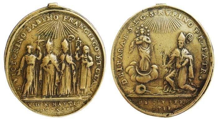 Varios Santos con S. Francisco Así /San Rufino y La Inmaculada Concepción, fechada en 1797 - MR(105) NjZhay
