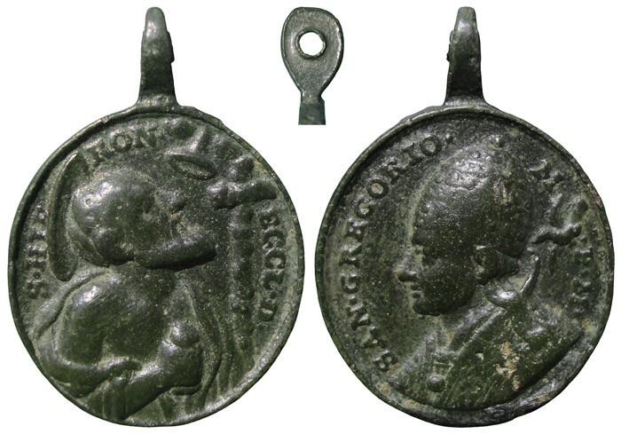 San Jerónimo / San Gregorio Magno - MR617 (R.M. S.XVIII-O14 b ) 3XbO0t