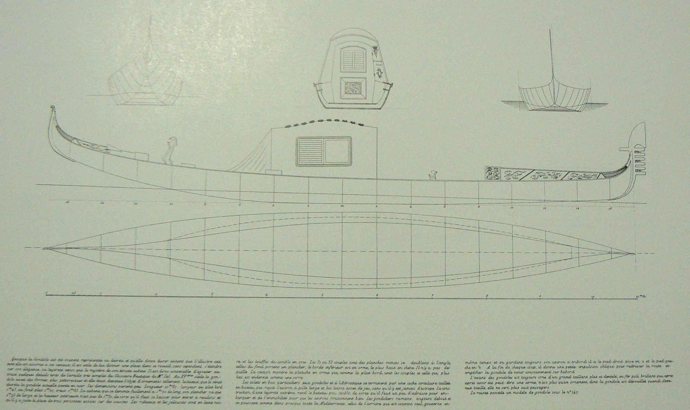 Gondole vénitienne - 1/24 - Scratch et impression 3d MJeE1R