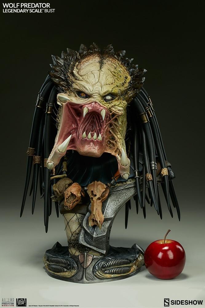 Alien vs Predator - Requiem : Wolf Predator Legendary Scale Bust RdOP0B