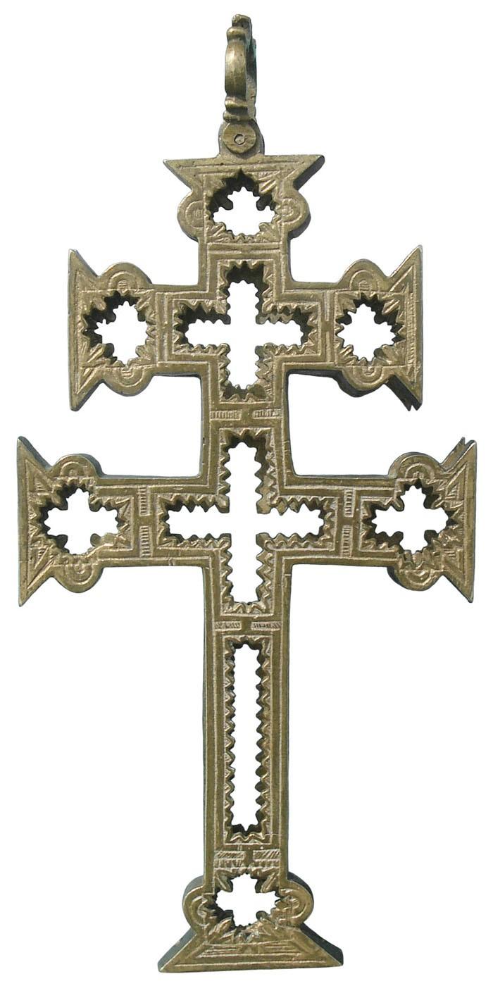 Cruz de Caravaca Relicario, S.XVII - CC106 SBfNvK