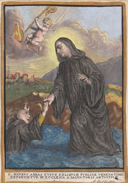 San Mauro de Glanfeuil / San Benito de Nursia - MR645 (R.M. SXVIII-C160) VcPJ7t