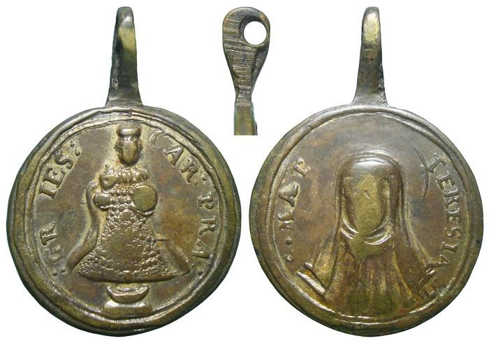 Niño Jesús de Praga / Santa Teresa de Jesús - MR622 (R.M. SXVIII-C158) B1ZchZ