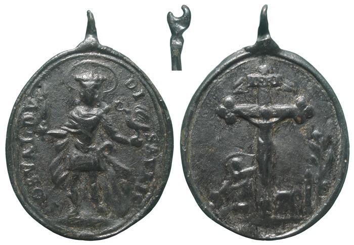 San Osvaldo de Northumbria / Jesus crucificado - MR716 Nj38Ms
