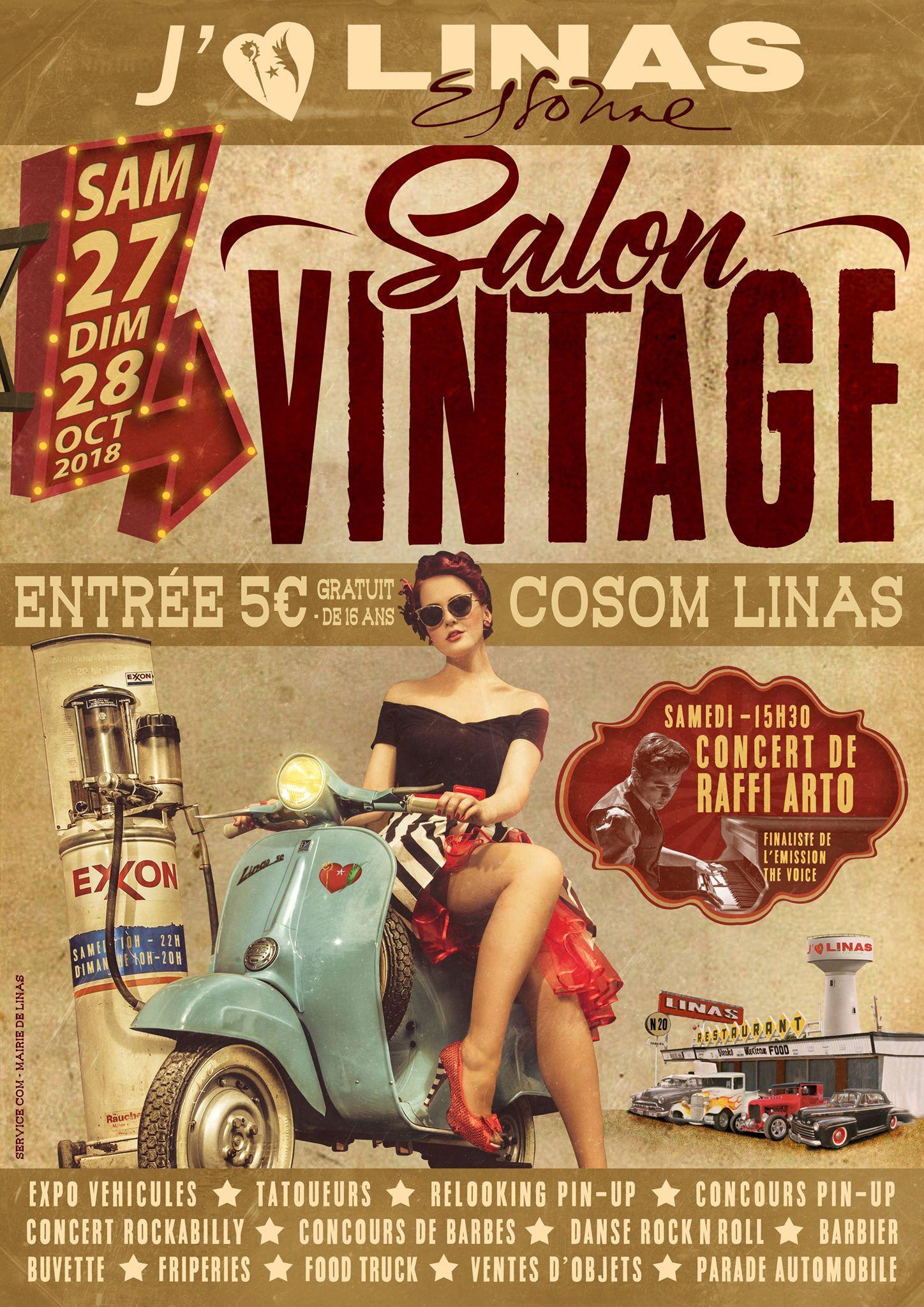salon vintage 27 et 28 octobre 2018 à Linas (91) SyHCIM