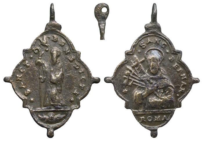 San Benito de Nursia / San Bernardo de Claraval - MR572 ( R.M. SXVII-Ot 83) 3e6vOR
