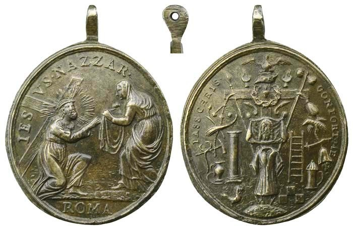 Jesús y la Verónica / Atributos de la Pasión de Cristo - MR502 (R.M. SXVIII-O319) 9bfKId