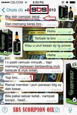 SBS SCORPION OIL MALAYSIA GNPD9k