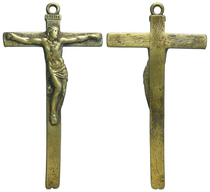 """Crucifijo pectoral con Cristo """"S"""". S-XVIII- CC-035 - [Pec021/S-XVIII]* AyNjYZ"""
