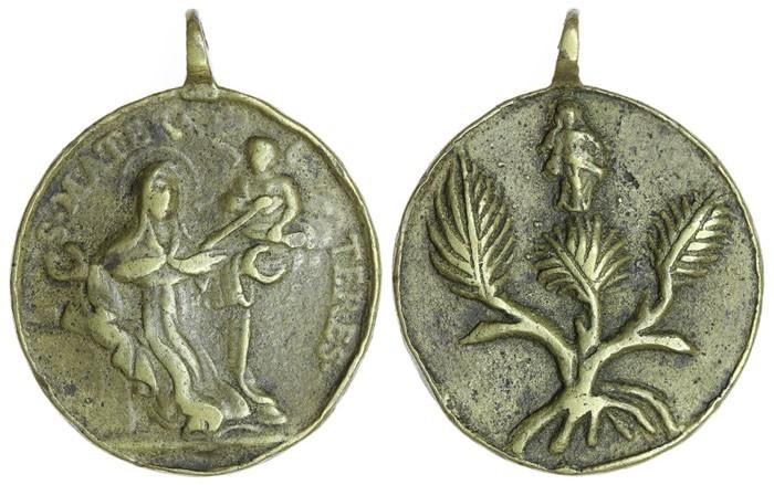 Éxtasis de Santa Teresa de Jesús / Alegoría de la Inmaculada Concepción, S. XVIII . ( R.M. SXVIII -O385)  BAQ5jf