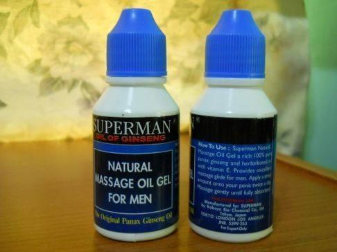 Superman Oil of Ginseng   utk penambah saiz & kuat zakar FhuEnH