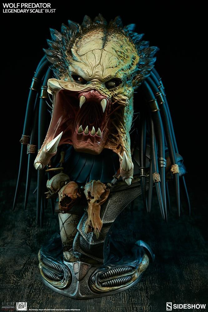 Alien vs Predator - Requiem : Wolf Predator Legendary Scale Bust MQ9N41