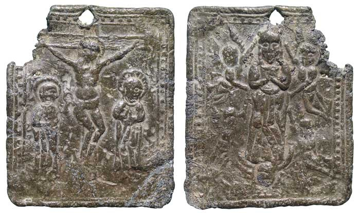 Crucifixión de Jesús / Virgen María - MR514 (R.M. SXVI-Ot7) Miza7g