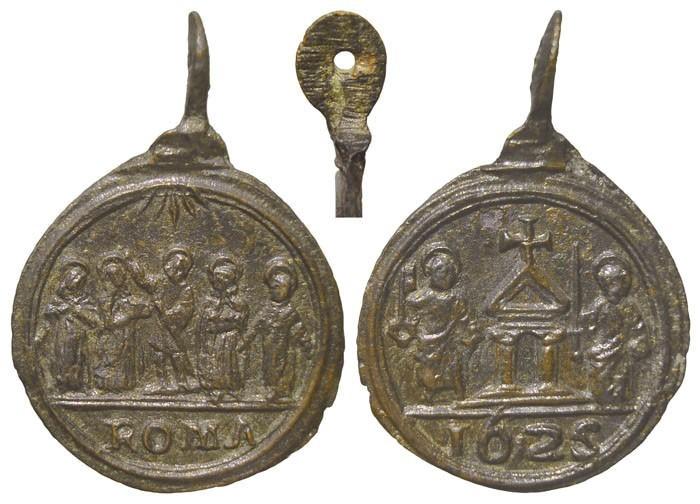 Puerta Santa Jubileo de 1625 / 5 santos - MR(053)  (R.M. SXVII-C27) T0b0da