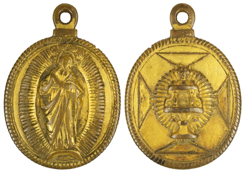 Inmaculada Concepción / Custodia sobre cruz, S. XVII (R.M.SXVII-O486) VSI1PN