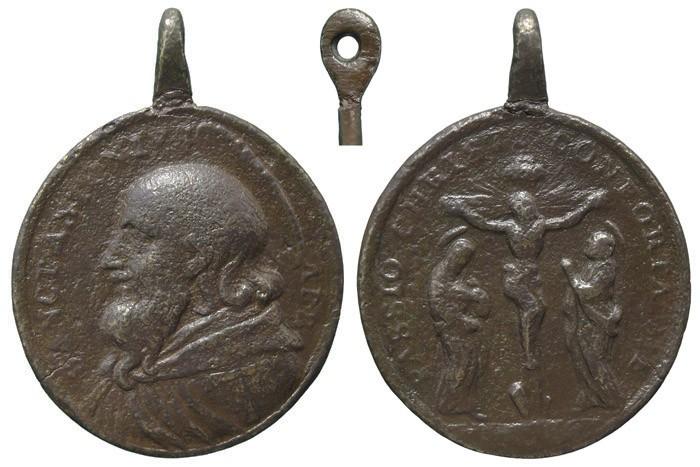 San Antonio Abad / Crucifixión de Jesús - MR588 (R.M. SXVIII-O376) VuiwF3