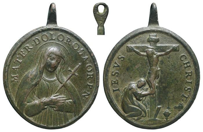 Virgen Dolorosa / Crucifixión de Jesús - MR583 (R.M. SXVIII-O389) 3fHtaa