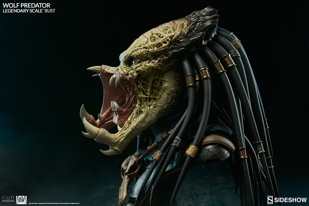 Alien vs Predator - Requiem : Wolf Predator Legendary Scale Bust 44BgbL
