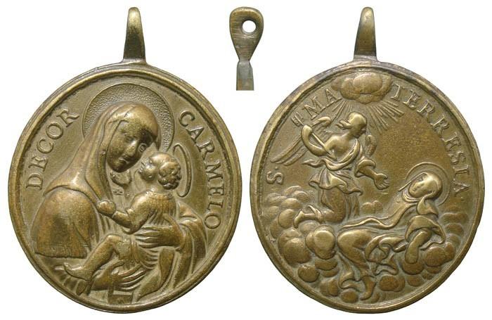 Virgen del Carmen / Éxtasis de Santa Teresa de Jesús - MR544 (R.M. SXVIII-O354) 9dIXeG