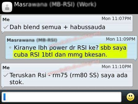 Minyak Belacak RSI | WWW.BATINMALAYSIA.COM XGEsji
