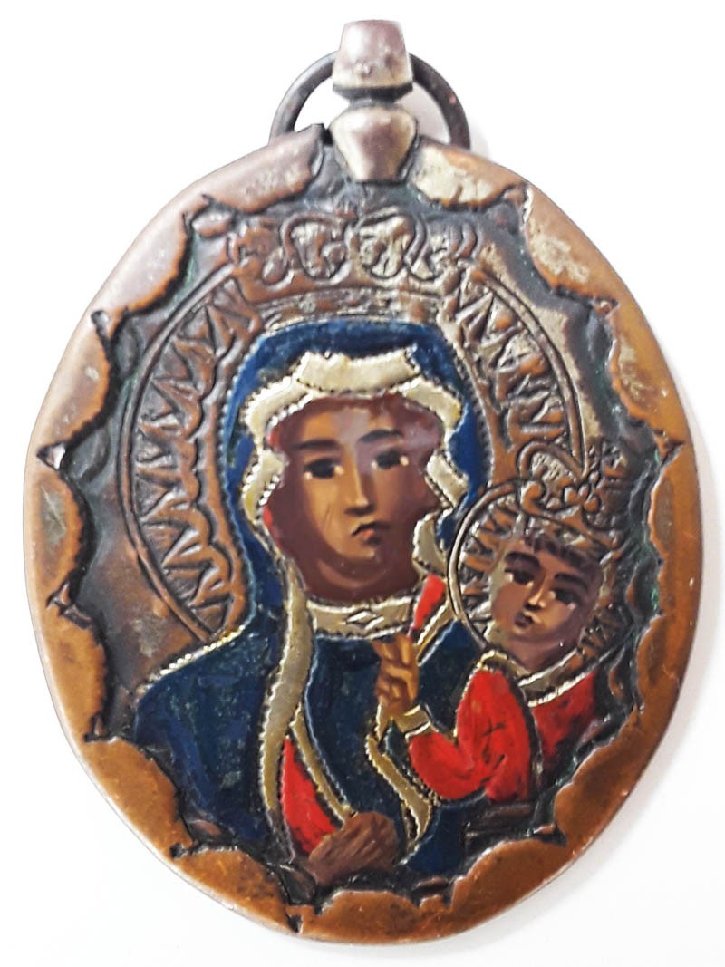 Medalla-relicario de CZESTOCHOWA MMw76P