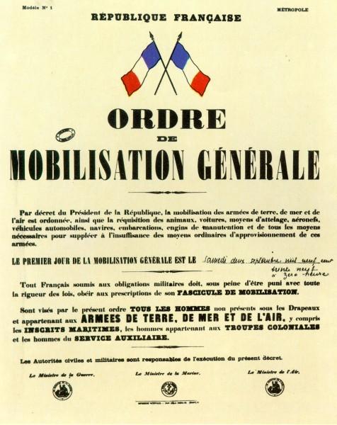 MOBILISATION GENERALE : 2 SEPTEMBRE 1939 9ThFEK