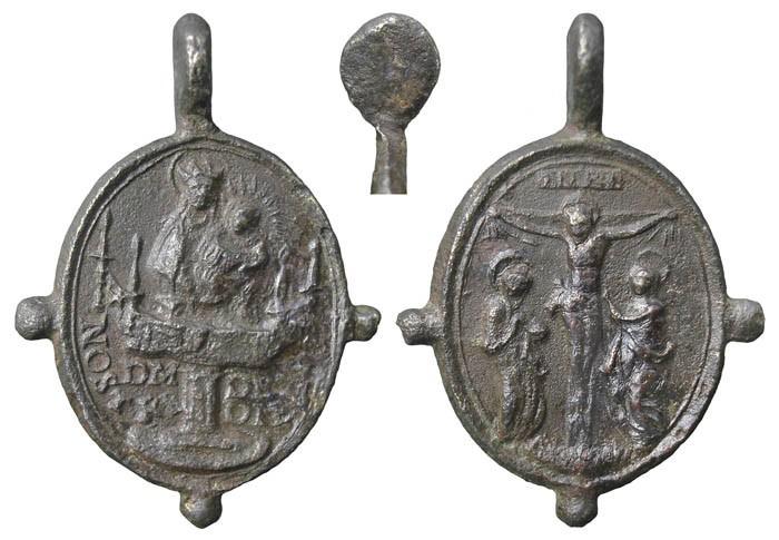 Virgen a identificar / Crucifixión  (R.M. SXVII-O428) KfdSMk