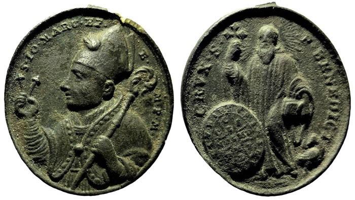 marcos - Medalla de San Juan Marcos  / S. Benito - s. XVIII P1H3p8
