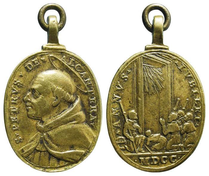 San Pedro de Alcántara /Jubileo Romano de 1700 (Hamerani) - MR580-(R.M. SXVIII-O374) QoMZGa