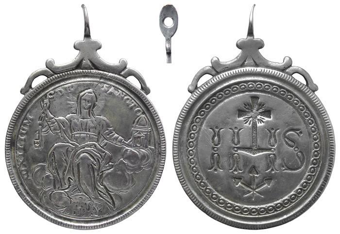 Alegoría de la Iglesia / IHS - Nomina Sacra - MR599 (R.M.SXVIII-C151) Rlburg