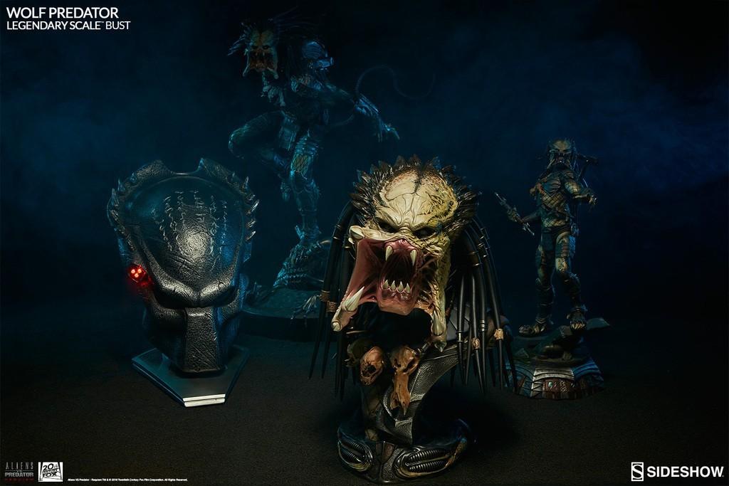 Alien vs Predator - Requiem : Wolf Predator Legendary Scale Bust TwiXTi