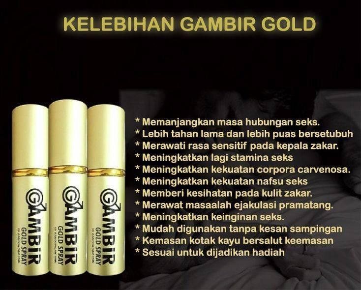 Gambir Gold Spray Asli Murah - Berkesan & Selamat Digunakan XUfZsP