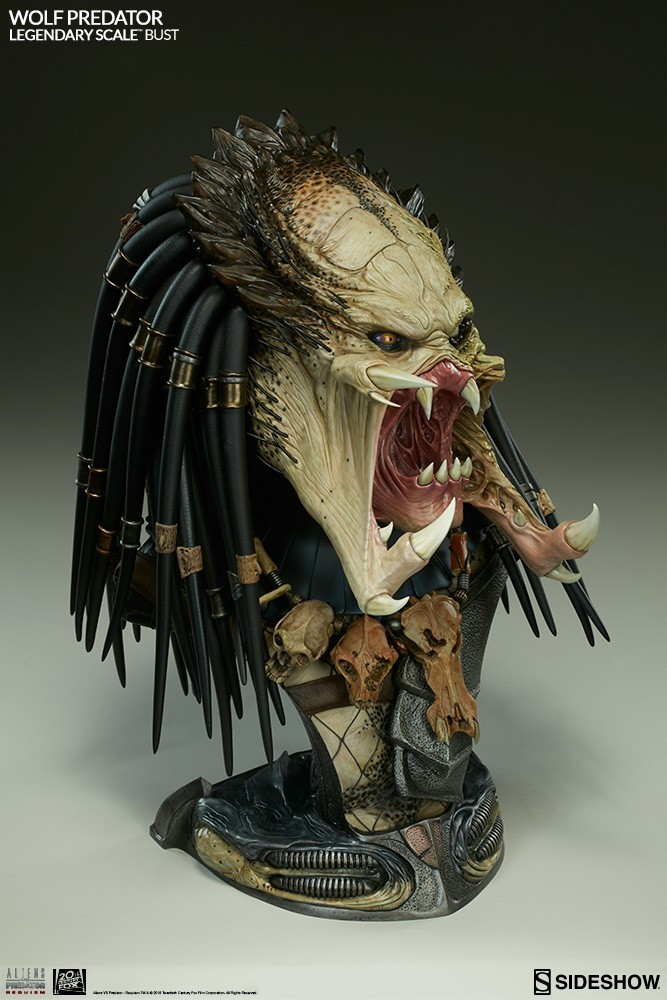Alien vs Predator - Requiem : Wolf Predator Legendary Scale Bust GerMhj