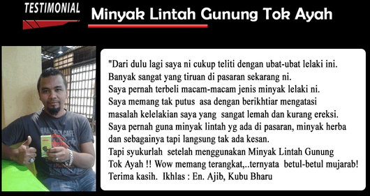 Minyak Lintah Gunung Asli Tok Ayah | WWW.BATINMALAY.COM OJodZO